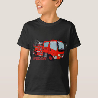 Reddy construction vehicle fire truck engine fire T-Shirt