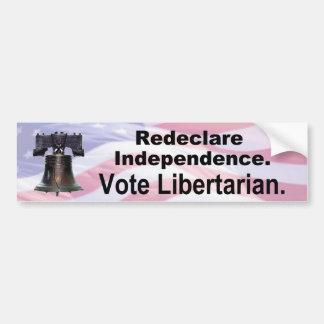 Redeclare Independence Bumper Sticker