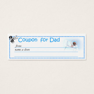 Redeemable Chore Coupon for Parents Mini Business Card
