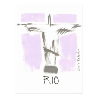 Redeeming Christ Rio Brazil Postcard