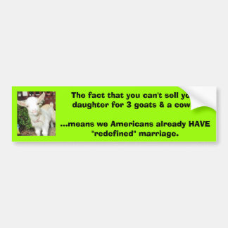 redefined marriage bumper sticker