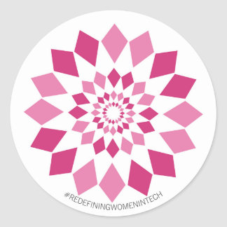 Redefining Women in Tech Small Stickers