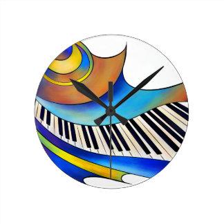 Redemessia - spiral piano round clock