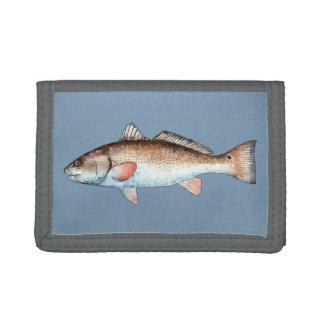 Redfish on Blue Tri-fold Wallet