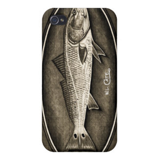 Redfish Vintage Black & White iPhone 4 Case