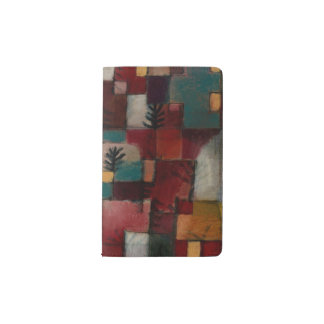 Redgreen and Violet-yellow Rhythms by Paul Klee Pocket Moleskine Notebook