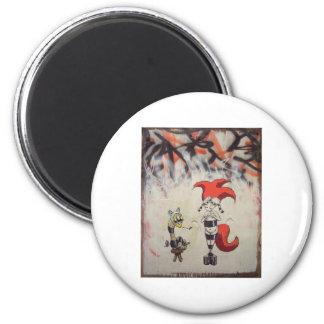 redhairedstripedw_freind1 2 inch round magnet
