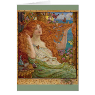 Redhead and Butterflies, Card
