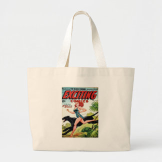 Redhead and her Panther Large Tote Bag