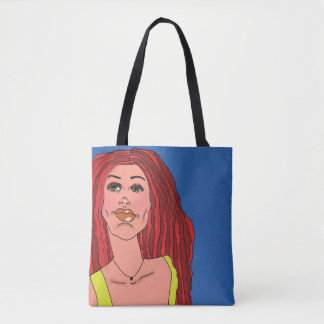 Redhead Babe Tote Bag