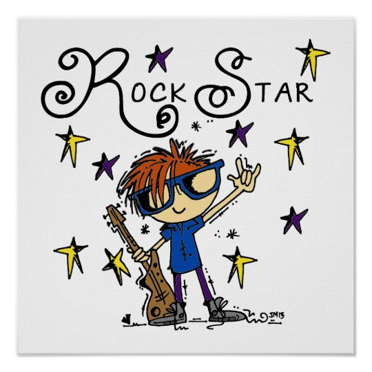 Redhead Boy Rock Star Poster