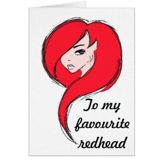 Redhead Card