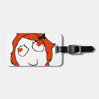 Redhead Derpina Valentine - In Love Luggage Tag