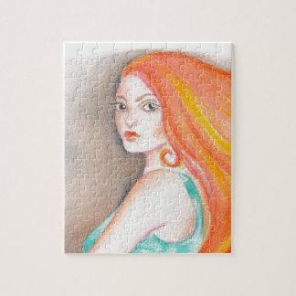 Redhead Lady Jigsaw Puzzle