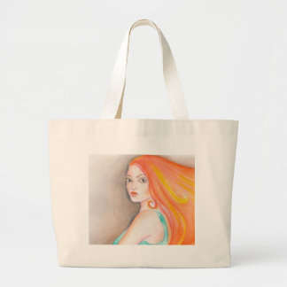 Redhead Lady Large Tote Bag