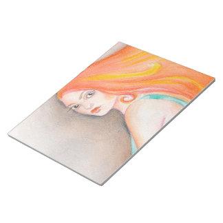 Redhead Lady Notepad