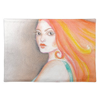 Redhead Lady Placemat