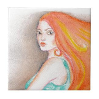 Redhead Lady Tile