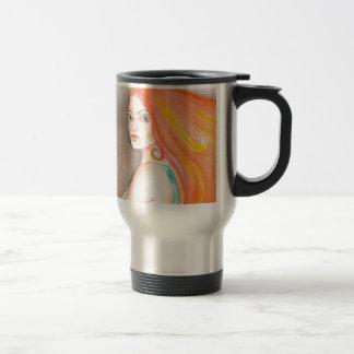 Redhead Lady Travel Mug