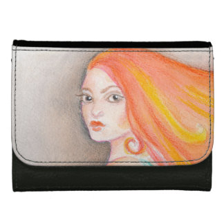 Redhead Lady Wallet For Women
