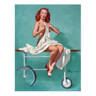 Redhead Patient Pin Up Postcard