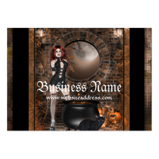 Redhead Witch Fantasy Business Cards