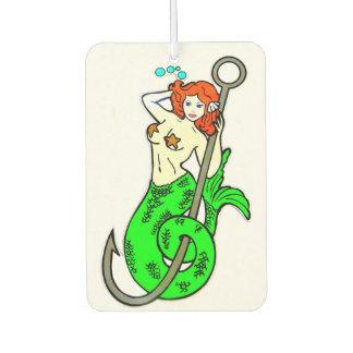 redheaded green-tailed mermaid air freshener