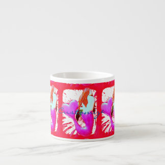 redheaded heart-tail mermaids Thunder_Cove Espresso Cup
