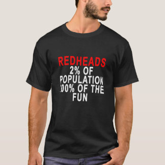 REDHEADS 2% OF POPULATION 100% OF THE FUN.png T-Shirt