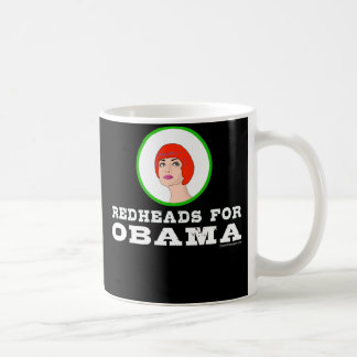 Redheads for Obama mug