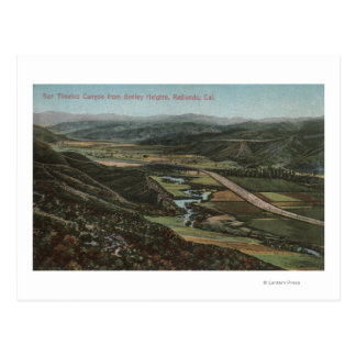 Redlands, CA - San Timeteo Canyon from Smiley Postcard