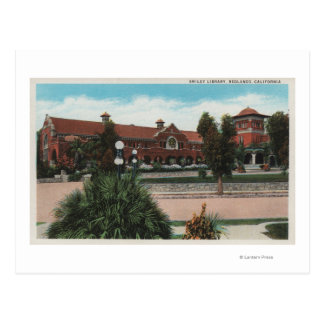 Redlands, CA - View of Smiley Library Postcard