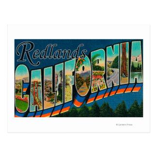 Redlands, California - Large Letter Scenes Postcard