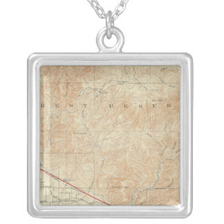 Redlands quadrangle showing San Andreas Rift Silver Plated Necklace