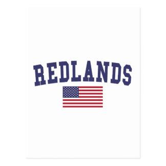 Redlands US Flag Postcard