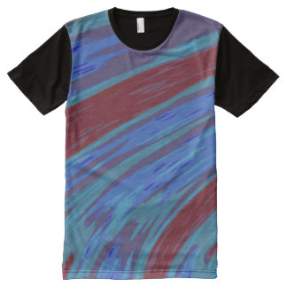 Redn Blue Color Swish All-Over-Print T-Shirt