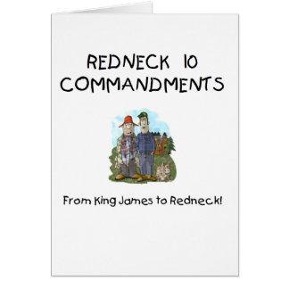 Redneck 10 Commandments Card
