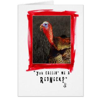 redneck card