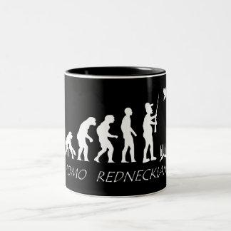 Redneck Evolution Two-Tone Coffee Mug