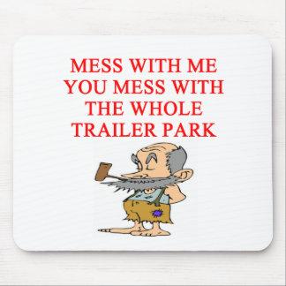 redneck hillbilly joke mouse pad