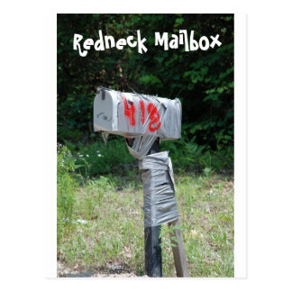 Redneck Mailbox Postcard