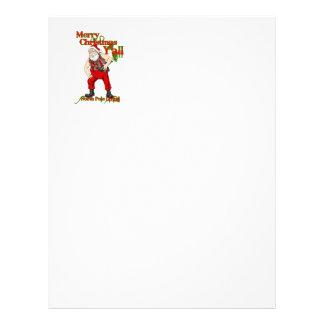 Redneck Santa Christmas Personalized Letterhead