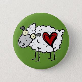Redneck Sweetheart - Sheep Love 2 Inch Round Button