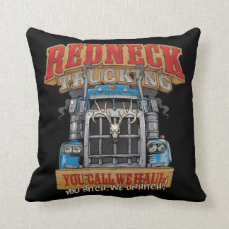 Redneck Trucking Throw Pillow
