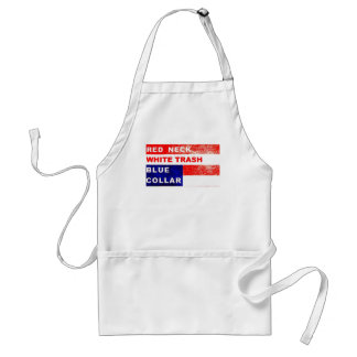 RedNeck White Trash Blue Collar BBQ Apron
