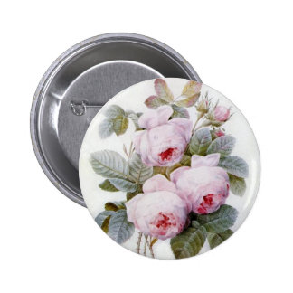Redoute 4 (Rose) 2 Inch Round Button