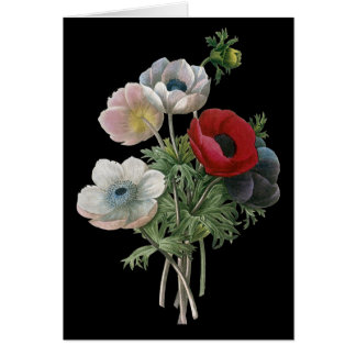 Redoute: Anemone, 1833 Card