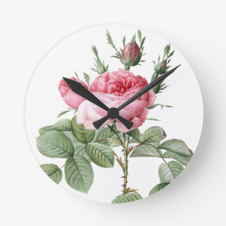 Redoute Les Rose #2 Wall Clocks