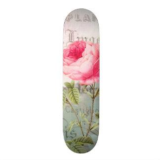 Redoute Pink Rose Skateboard