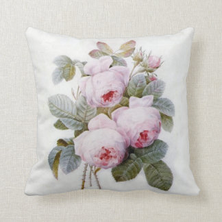 "Redoute Rose (4) Throw Pillow 20"" x 20"""